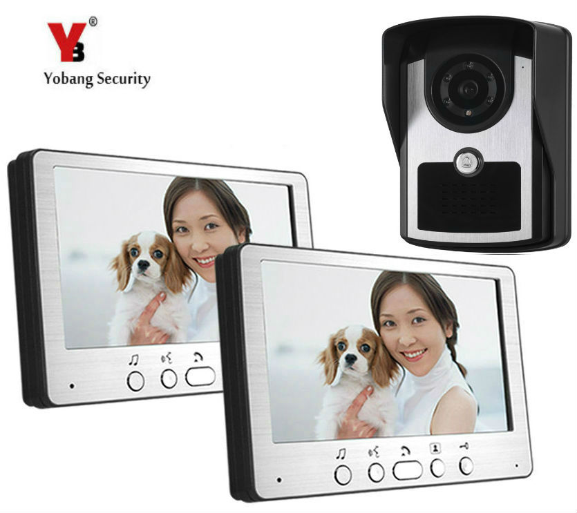 Yobang Security 7 Video Intercom Entry System Apartment Door Phone System Waterproof Camera With Rain Cover for Home Security