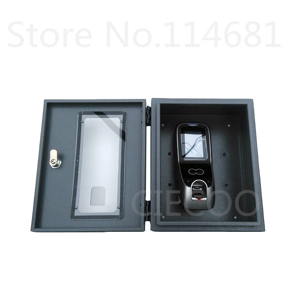 High quality metal protect box with key Multibio700 /iface7 face access control protect cover no include device