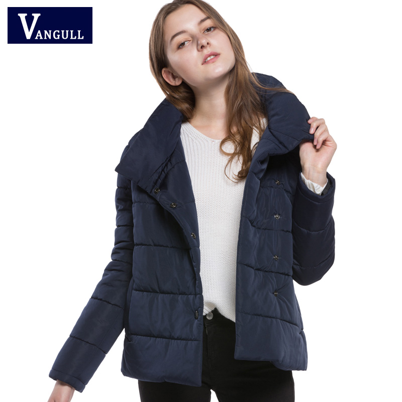 2017 new winter hot-sell woman England style coat fashion loose casual short lady thick Navy blue color light but warm parkas hot style three points children quilted loose coat