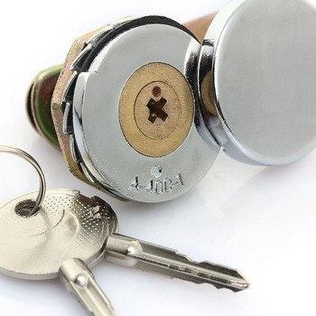 Hochwertige türschloss Nützlich Steady Cam Lock vorhängeschloss für Sicherheit Tür Kabinett Mailbox Schublade Schrank camlock 16mm + 2 schlüssel