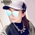 REVO MIZHO Aumentar Perspectiva Menos Efeitos de Reflexão Lente Dos Óculos De Sol Das Mulheres Gato olho Óculos Homens Espelho de Aço Inoxidável 2016