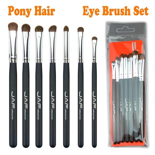 JAF 7pcs Makeup Brush Set High Quality Eyeshadow Eyebrow Eye Brushes Natural Animal Hair Make Up Brush Cosmetic Tool 25#701 1