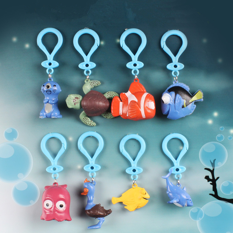 8 pcs/set Finding Nemo Cartoon Keychain Dory Nemo Jenny Marlin Clownfish Finding Dory Action Figure Keychain Collection Gift finding dory 36360 в поисках дори фигурка подводного обитателя 4 5 см в ассортименте