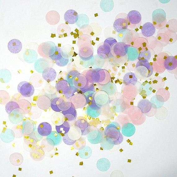 30g círculo forma redonda rociadores confeti de papel de seda Boda fiesta de cumpleaños Decoración de mesa piñata globos rellenos