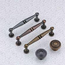 96mm bronze kitchen cabinet handle black cupboard pull red bronze zinc alloy drawer dresser furniture hardware
