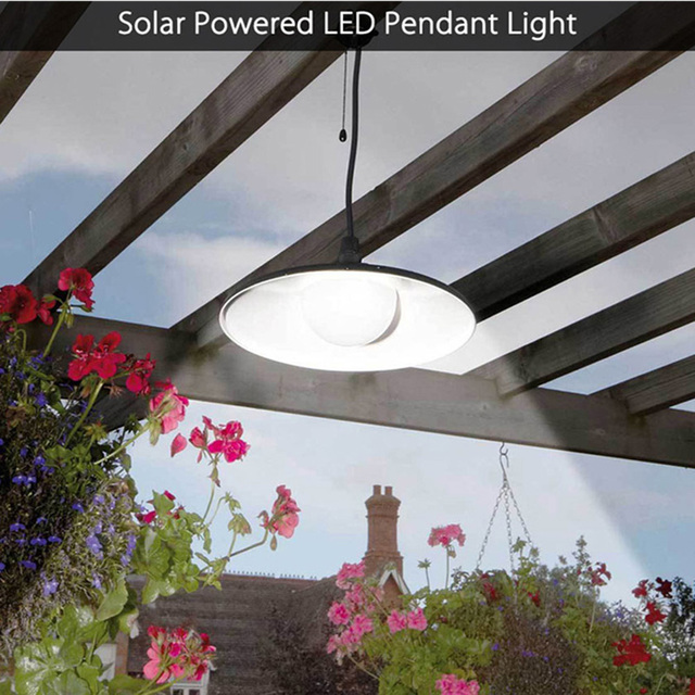 Solar Ed Led Pendant Lights With Remote Control Shed Light Hanging Lamp Ideal For Home