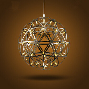 LED fireball chandelier lamp creative personality Iron restaurant Hotel Arcade Planet fireworks chandeliers, Dia: 50Cm,AC220V.