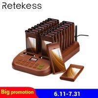 RETEKESS T116 Беспроводная подкачивающая система вызова клиентов с передатчик для клавиатуры пейджеры платные ресторанное оборудование