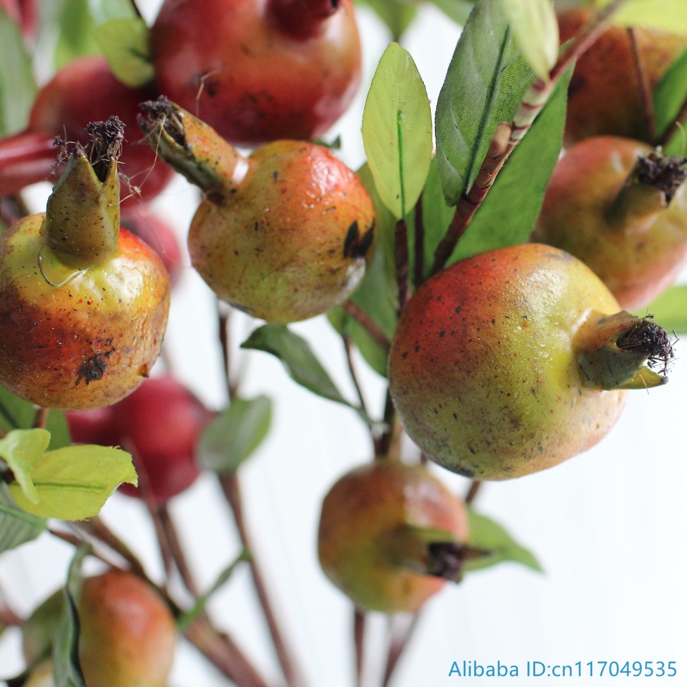 1 pcs beautiful artificial pomegranate plastic fruit for Artificial pomegranate decoration