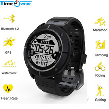 Waterpoof UW80C GPS Smart Watch SOS Thermometer Pressure Gauge Sport Heart Rate Monitor Bluetooth Pedometer Wristwatch Watch(China)
