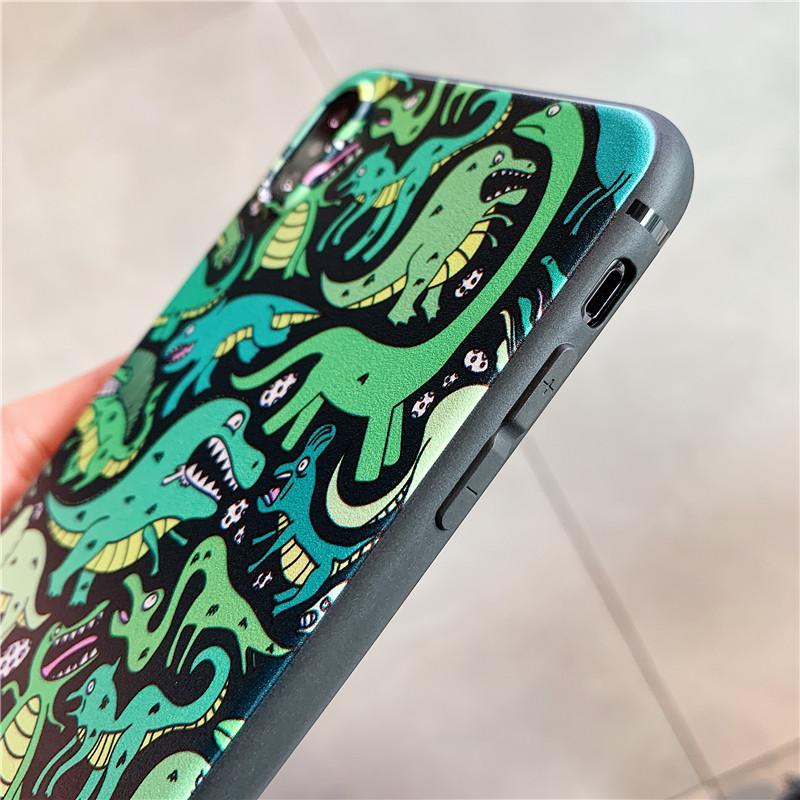 Dinosaur Cartoon Cute Soft Cover - nice back case