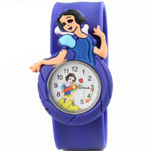 New cartoon youngsters Q model of the snow princess multi-color watch the lady favourite sweet shade scholar silicone watch