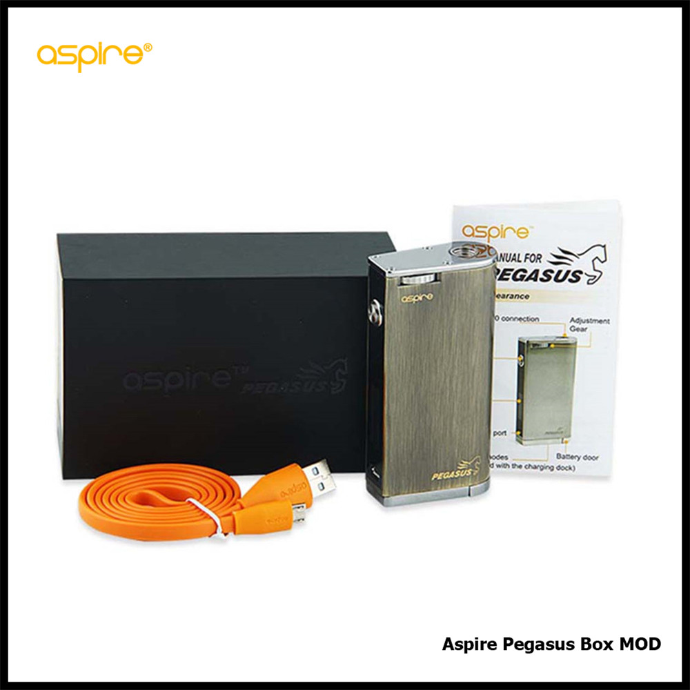 100% Original Aspire Pegasus VW/TC Box MOD 70W without 18650 Battery Pegasus Temp Control Box Mod Vaping Mod Electronic Cig Mod original pioneer4you ipv d2 box mod