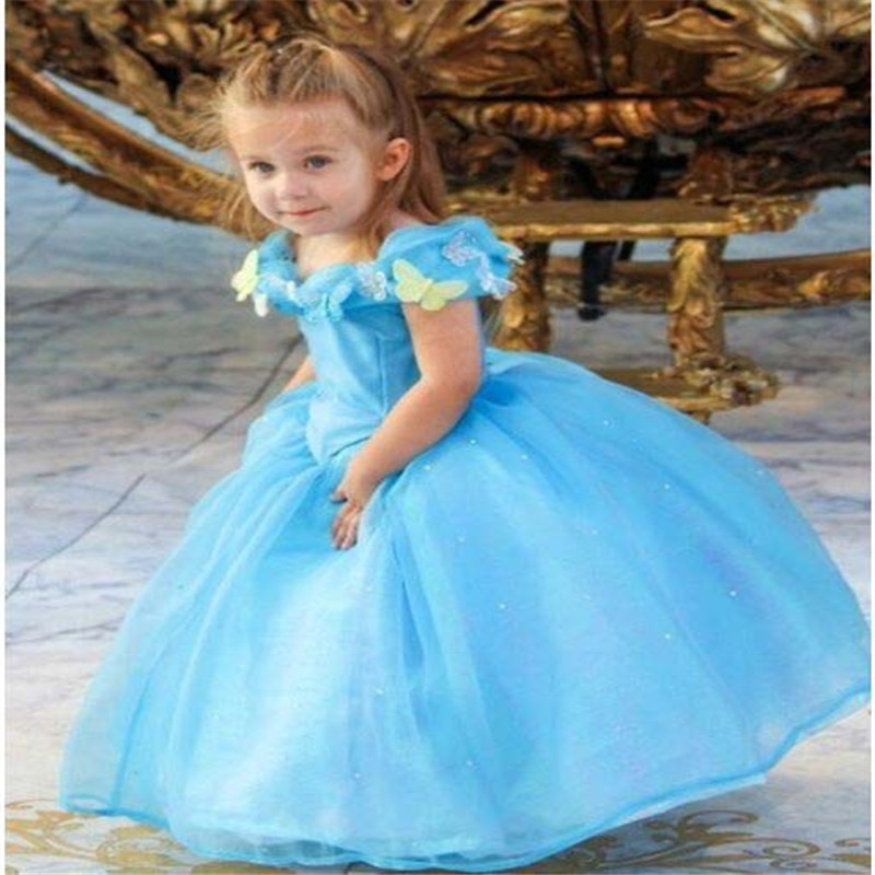 2017 new summer style  baby girl clothing  girls clothes cinderella dress Cinderella girls dress  kids  girls party  clothing