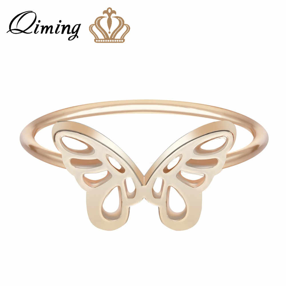 Detail Feedback Questions About Qiming Butterfly Boho Ring Insect