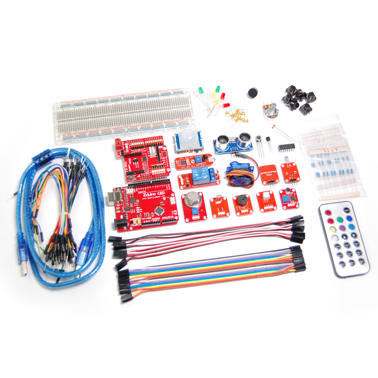 Zduino uno r3 Starter Kit Beginner Learning Experiment Suite Single Chip Microcontroller Development Board Kit due development board atsam3x8e microcontroller arm cortex m3 learning board uno r3 diy kit rc electronic toy robot mcu