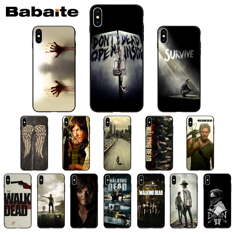 The Walking Dead Season Pattern TPU Soft Phone Accessories Cell Phone Case for iphone X XS MAX 8 7 6S Plus 5S SE XR Cell Babaite