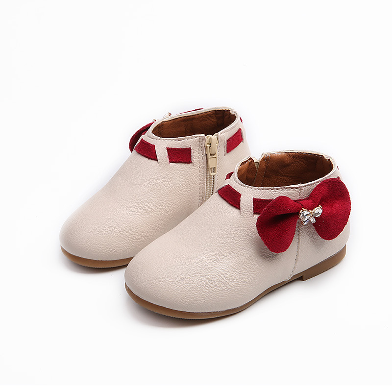 New Spring autumn girls rabbit ears in the childrens anti-slip kids flat shoes side zipper tide childrens boots