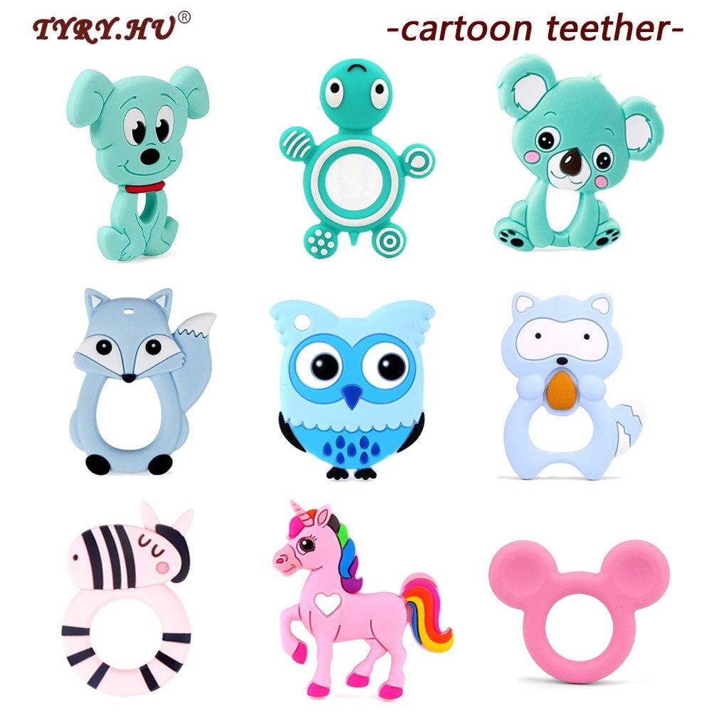 1 шт. мультяшный силиконовый кулон TYRY.HU в виде животных, пищевая Подвеска для щенка коала, безопасные игрушки для прорезывания зубов, сделай сам, ожерелье для ребенка, подарки|Шармы|   | АлиЭкспресс