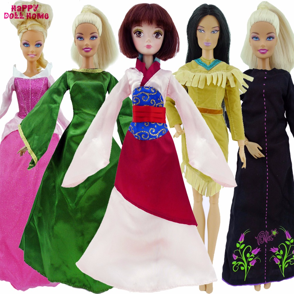 Imitation Fairy Tale Princess Dress Wedding Dancing Gown Party Outfit Clothes For Barbie FR Kurhn Doll 11.5 12 Accessories Toy