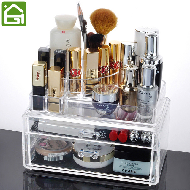 Lovely Acrylic Makeup Organizer Jewelry Storage Containers Large Drawer Organizer  Box U0026 Lipstick Nail Polish Holder