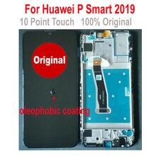 100% オリジナルの Ips ガラスの新センサー P スマート 2019 PSmart 2019 LCD ディスプレイのタッチスクリーンデジタイザ国会 + フレーム黒