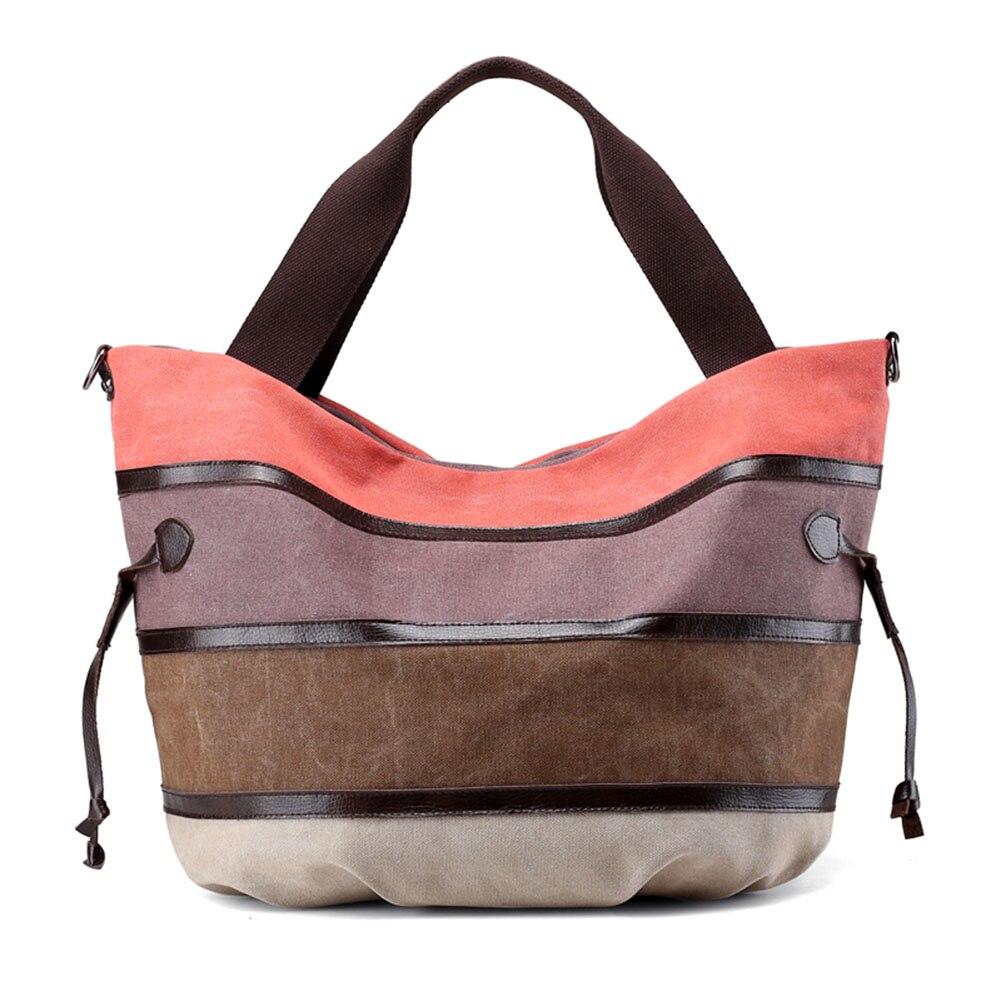 a474534fc172 Женская парусиновая сумка, Классическая разноцветная большая сумка-шоппер,  повседневная сумка на плечо WML99