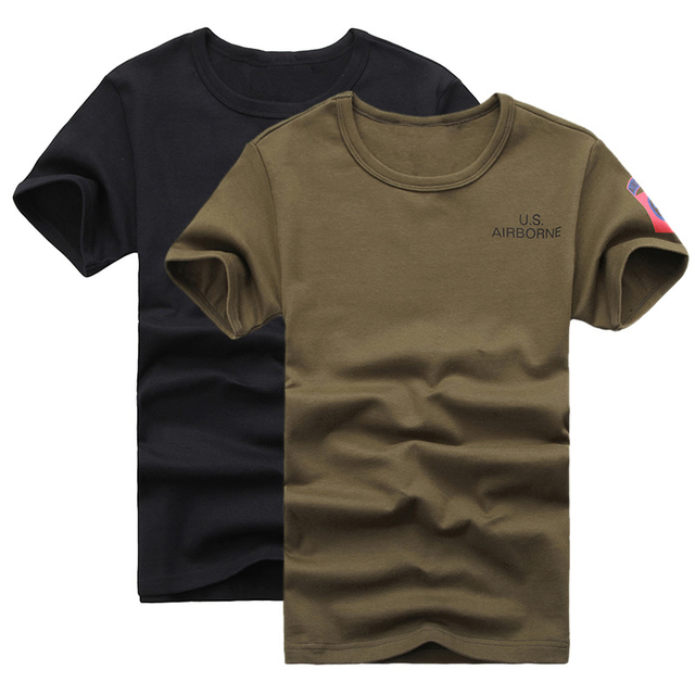 Mens Tactical Army Special Forces Police T Shirts Delta Airborne Forces  Compression T Shirts Military SWAT Tees Short-sleeve f696895b7ab58