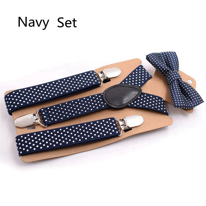 ea98ba1dbf1 AEbone Fashion Elastic Suspender Kids Brace And Bow Tie Set Black Dot  Suspenders For Boy Navy Strap Bretels Sus07-in Suspenders from Mother   Kids  on ...