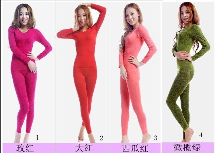 Beam Waist Seamless Body Underwear Female Model Body Thermal Underwear Basic Thermal Underwear