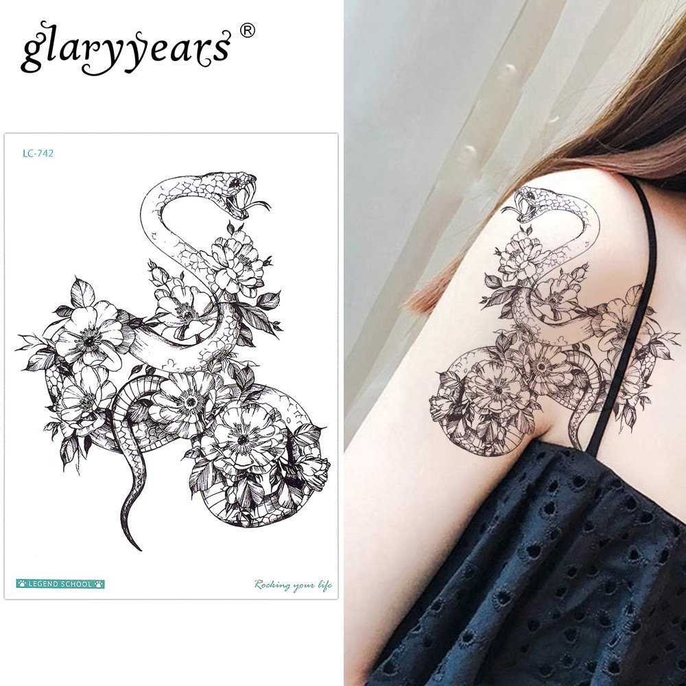 Small Tattoo Art: Glaryyears Small Arm Temporary Tattoo Sticker Fake Tatoo