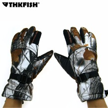 Check Discount 1 Pair Winter Thick Gloves Snow Camouflage Autumn Winter Camo Windproof Waterproof Antiskid Movement Hunting Fishing Gloves