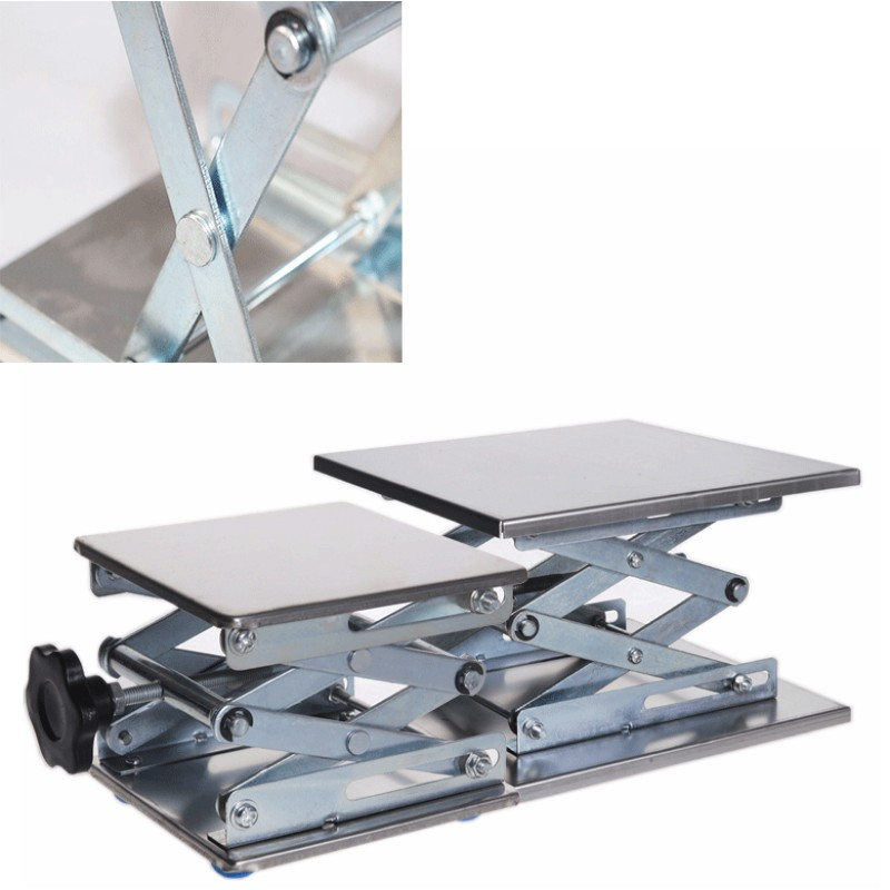 1Pc Router Lift Table Woodworking Engraving Lab Lifting Stand Rack Lift Adjustable Drill Laboratory Lifting Platform Table Bench