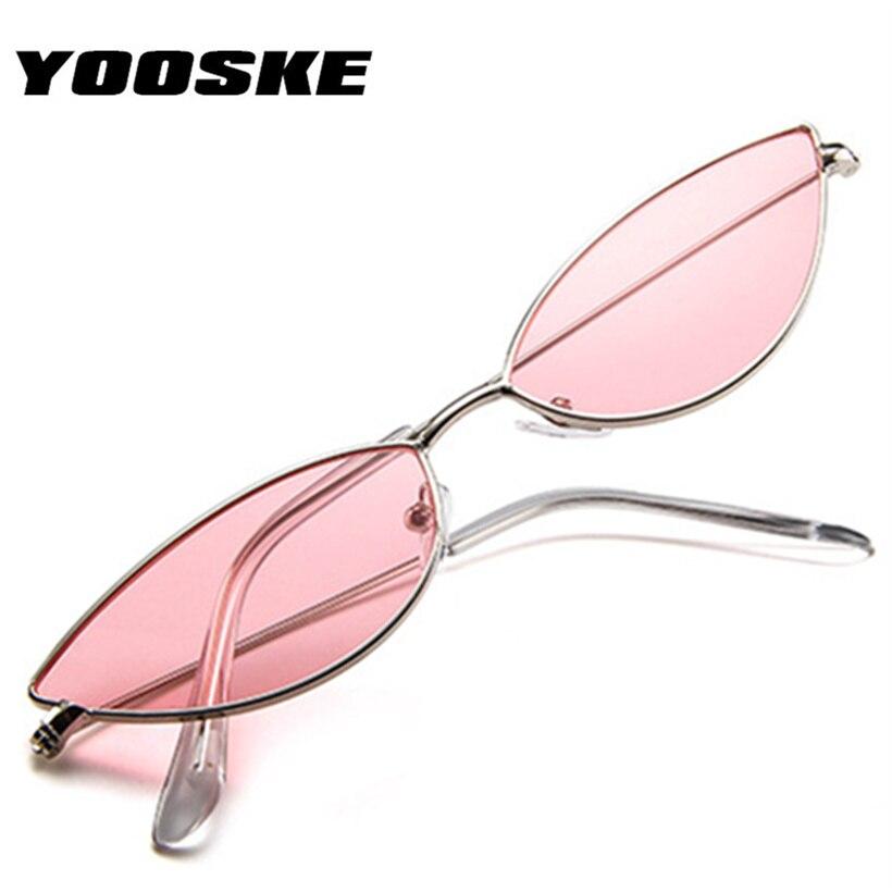 5e4fdcc7e54 YOOSKE Cute Sexy Cat Eye Sunglasses Women 2018 Summer Retro Small Frame  Black Red Cateye Sun Glasses for Women