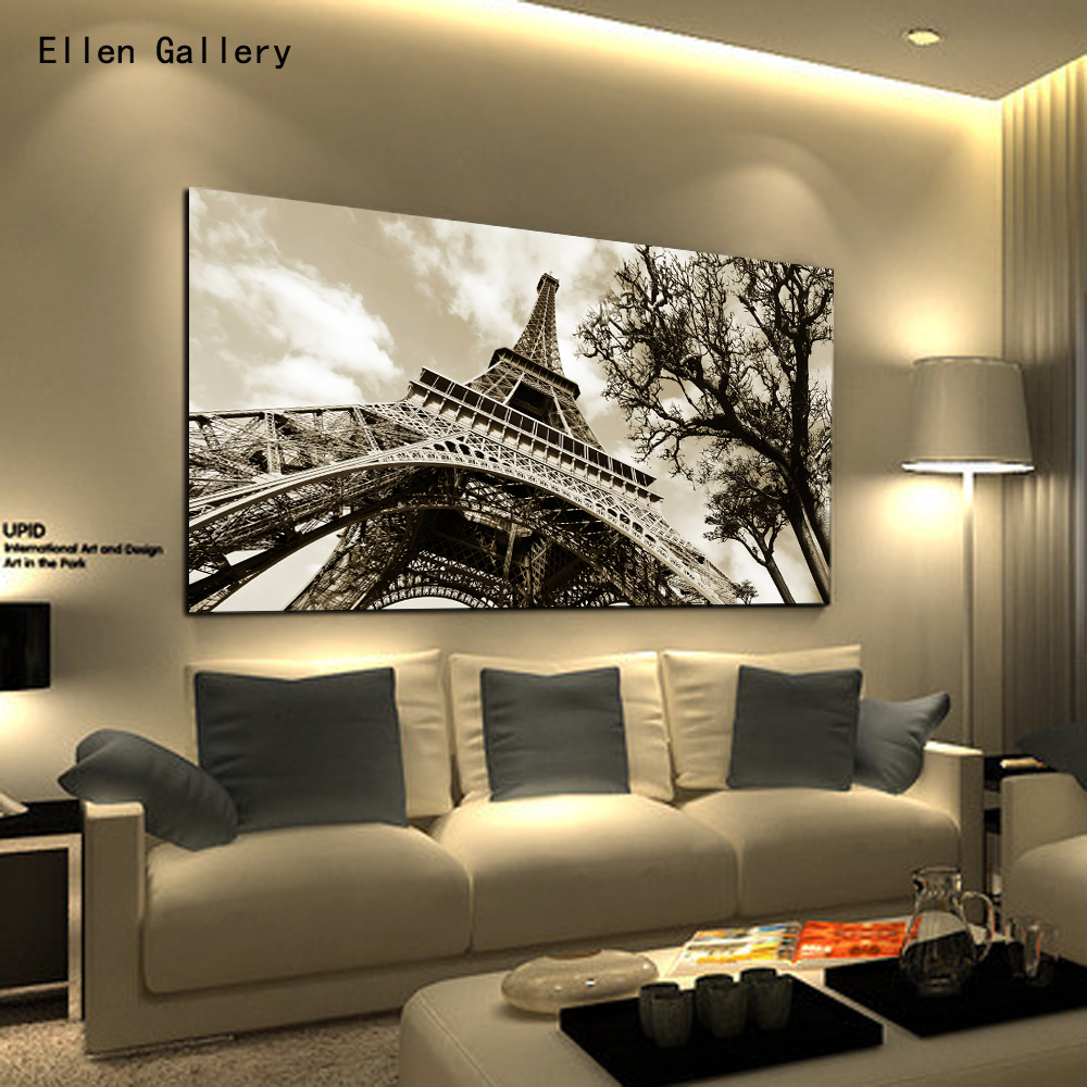 Home Decor Wall Art Canvas Painting Wall Pictures For Bedroom Quadro Cuadros Decoration Paris City Eiffel