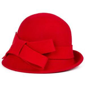 Image 5 - 2017 Yeni Kış sıcaklık Moda Yay Fedora Lady Şapka Kubbe zarif Bayanlar Için Kadınlar Için Yün Topper Ilmek Şapka Kışlar kadınlar