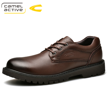 Camel Active New 100% Genuine Leather Shoes Men Cow Leather Casual Shoes Male Outdoor High Quality Men Flats Lace-Up Footwear Обувь