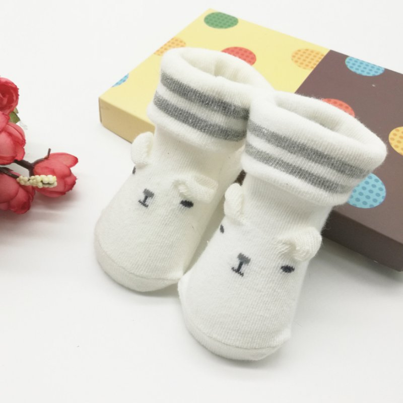 Lovely Toddler Infant Baby Boy Girl Soft Anti-slip Sole Socks Newborn Socks 0-6MBest