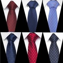 3inch Formal Standard Size Necktie Groom Gentleman Polka dot Ties Men Design Party Polyester Gravata Slim Arrow 7.5cm Silk Tie