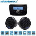"Al aire libre A Prueba de Agua Marina de Radio FMAM Receptor de Audio Bluetooth MP3 Jugador para el barco Marina + 3 ""Altavoz marina ATV baño"