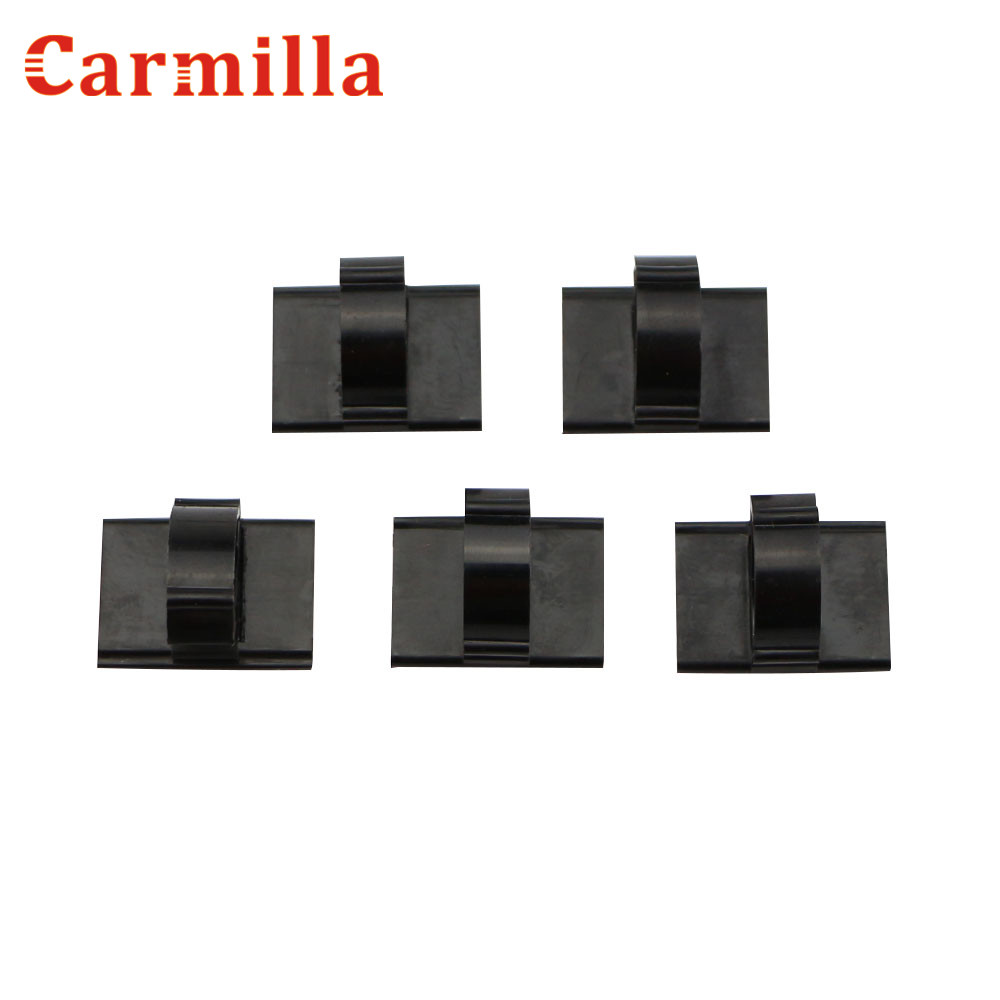 Carmilla Universal Car Wire Cable Holder Tie Clip Fixer Organizer Adhesive Charger Line Clasp Clamp Navigation Lines Cable Clip