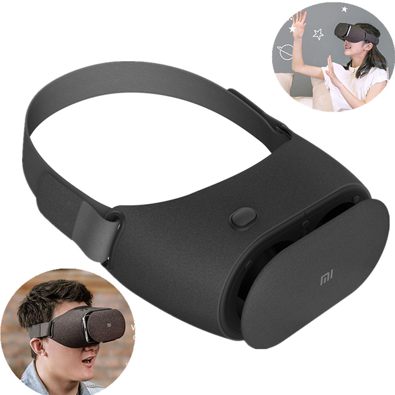 Original Xiaomi VR Play 2 Virtual Reality 3D Glasses Headset Xiaomi Mi VR Play2 With Cinema Game Controller for 4.7 5.7 Phone