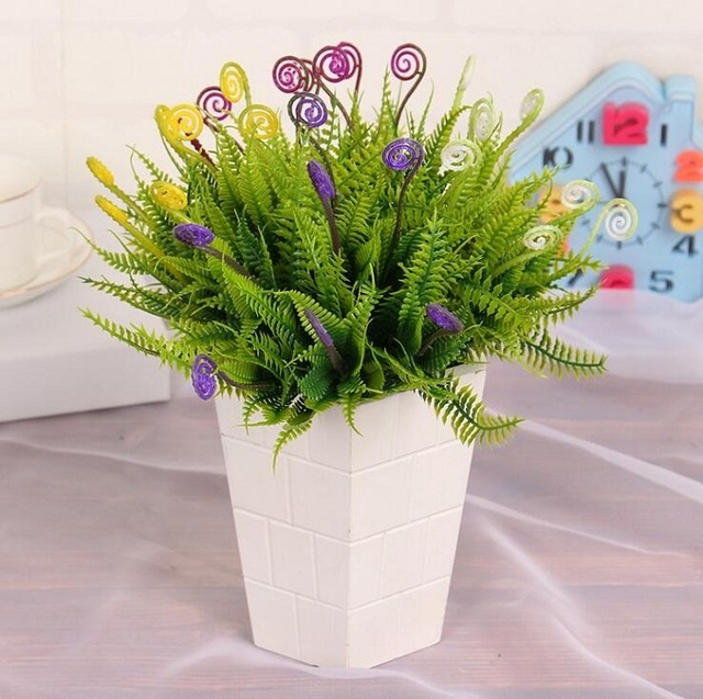 sea horse grass Artificial plant Flower branch for Birthday Wedding ...