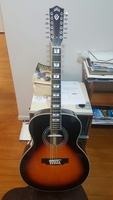 free shipping Jumbo 12 String Guitar vintage sunburst guild F512 guitar customize color built in electronics guitar