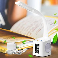 American Plug LED Desk Lamp With USB Charging Color Night Light Kids Dimmable LED Table Lamp With Pen Ho