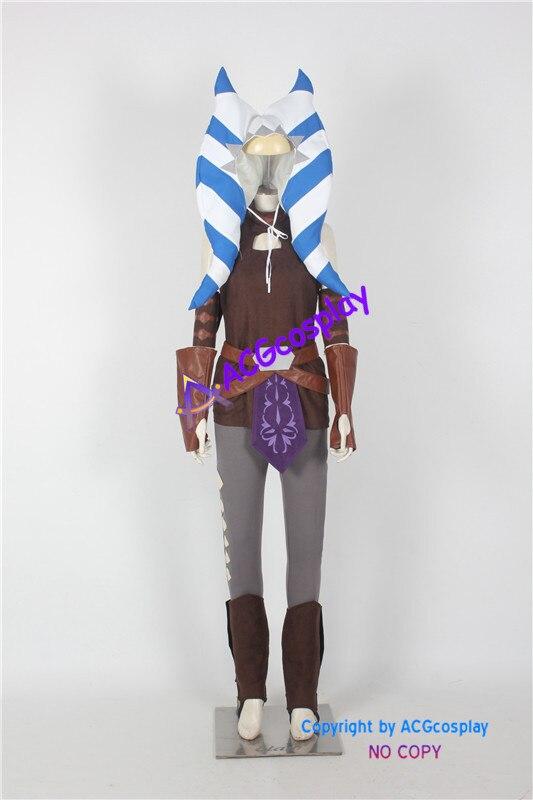 Star Wars Ahsoka Tano ACGcosplay Traje Cosplay super herói super hero costume