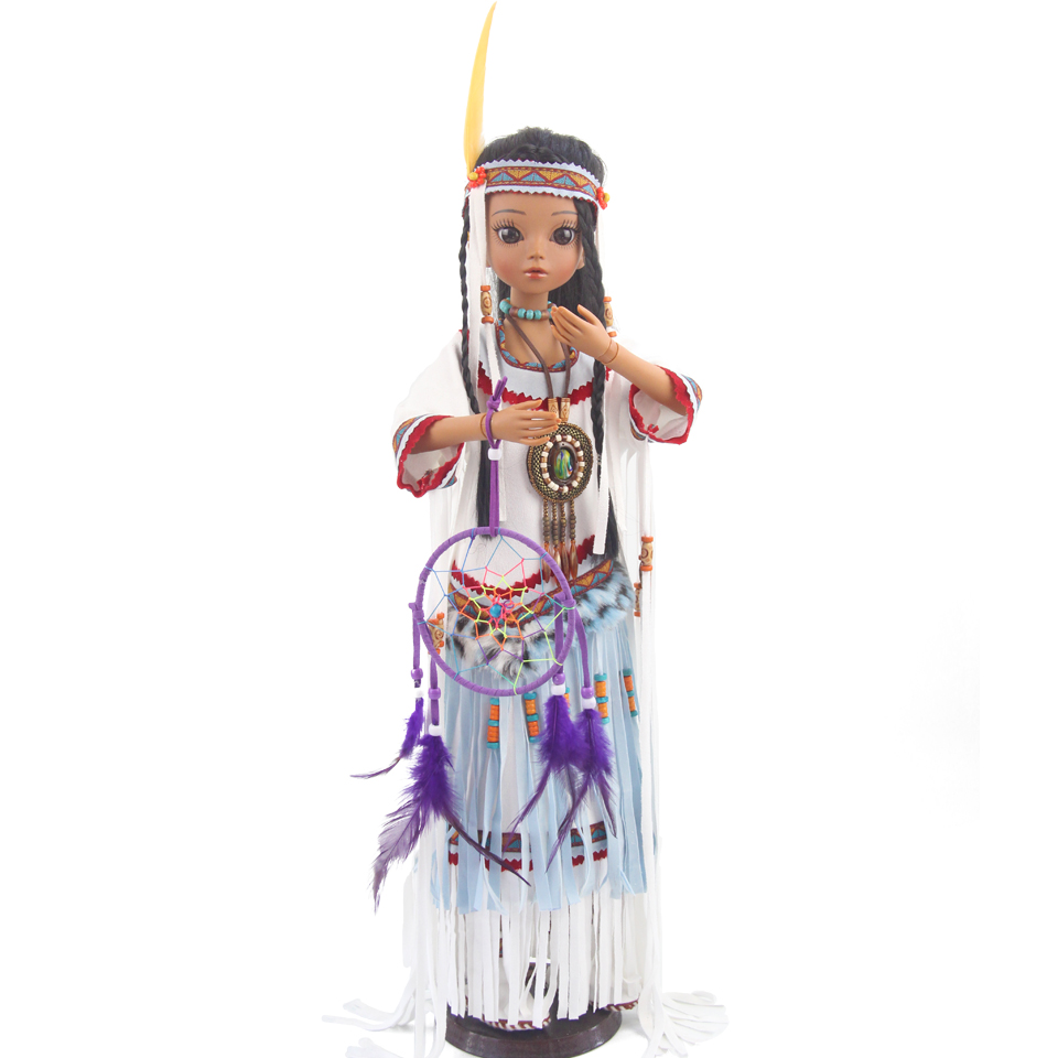Princess Anna bjd doll sd 60 cm 1/3 native American indian doll tan girl toys for children collectionPrincess Anna bjd doll sd 60 cm 1/3 native American indian doll tan girl toys for children collection