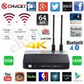S912 CSA93 Fully Loaded Amlogic Caixa de TV Android núcleo octa 2G/16G Android 6.0 TV Box WiFi H.265 BT4.0 4 K Meida Player + Keyaobard