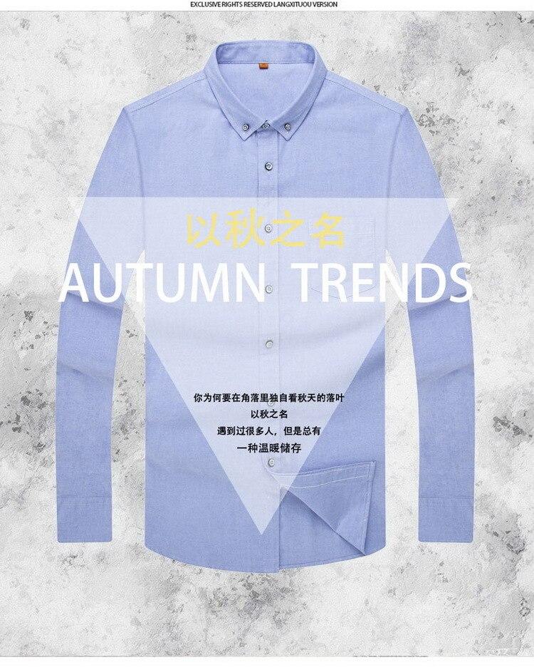 c21555c1203 2019 8XL 7XL New Autumn 2018 Pure Color 100% Cotton Men Dress Shirt ...