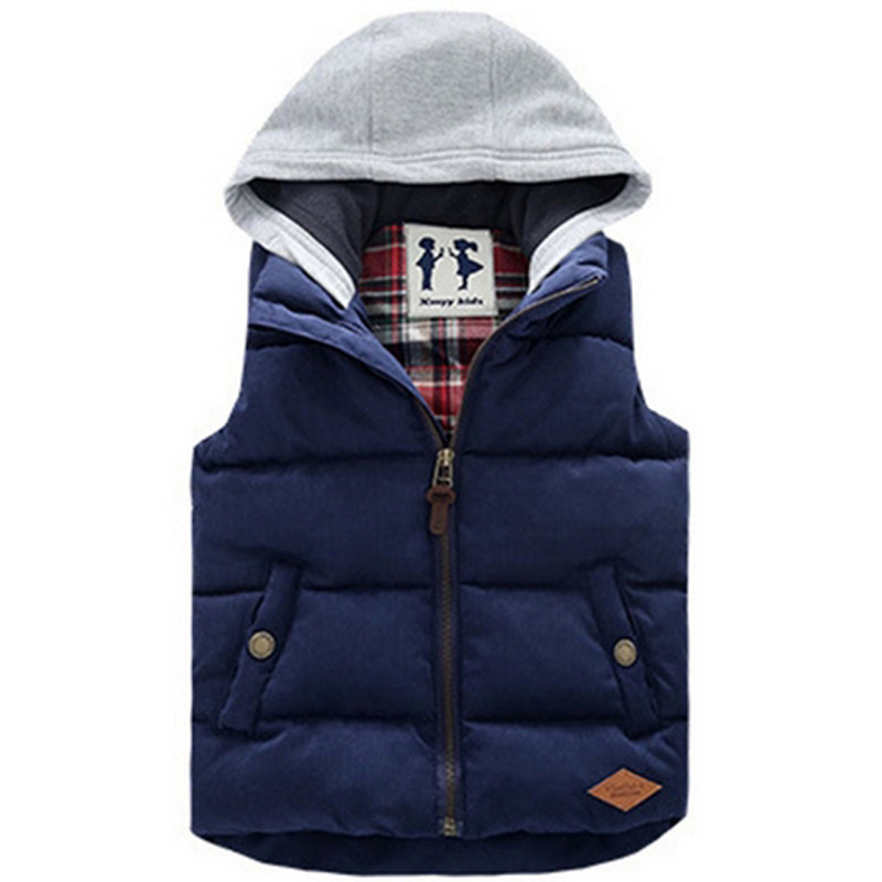 Vests Children Hoodies Warm Jacket Baby Girls Outerwear Coats Kids Vest Boys Hooded Jackets Autumn Winter Thicken Waistcoats